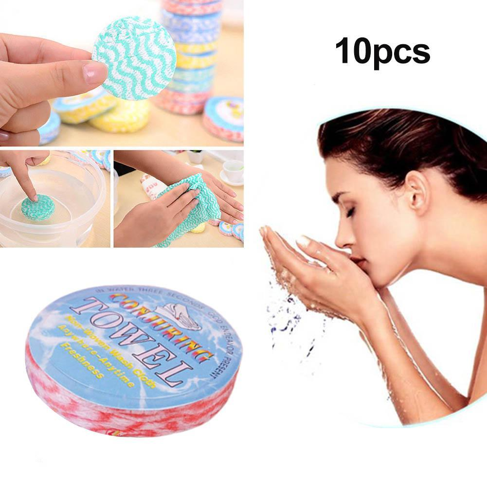 10pcs Outdoor Travel Portable Compressed Towel Expandable Towels Washing Ec N1P1