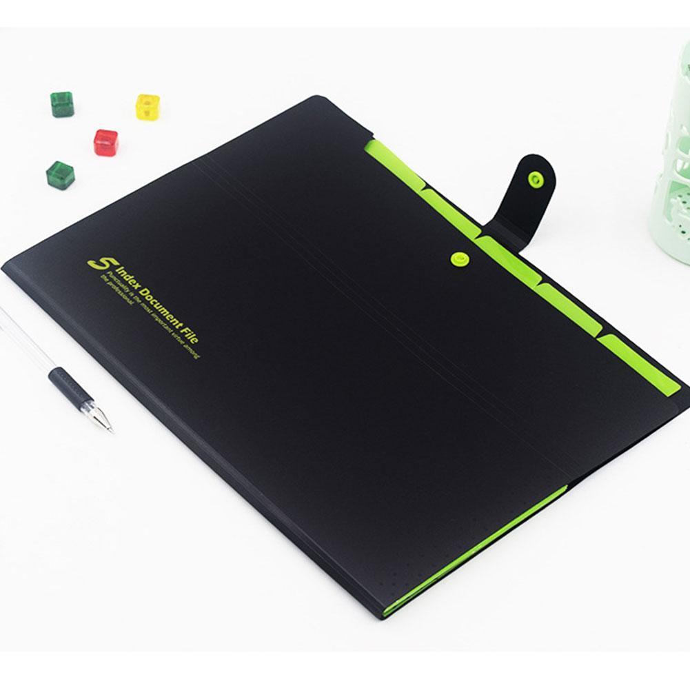 A4 File Document Bag Pouch Bill Folder Holder Organizer Supplies Fastener O L8C4