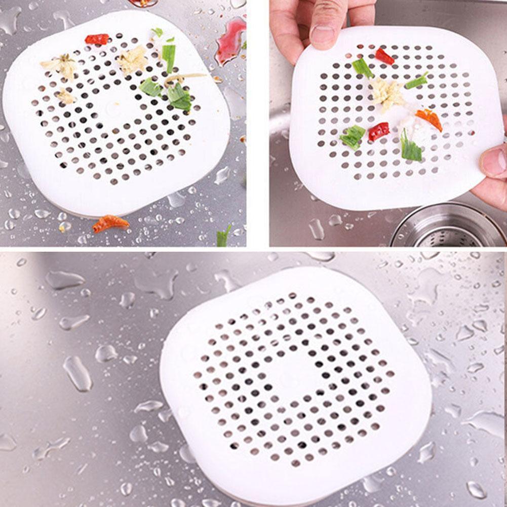 Stainless Steel Bathtub Sink Shower Hair Kitchen Catcher Hot Drain Stra Fil S3W0