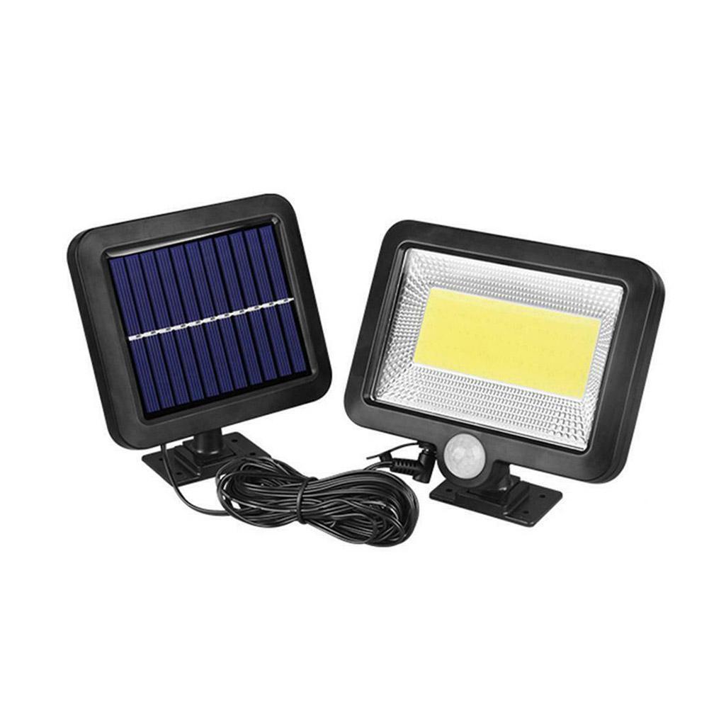 56 LED Solar Wandleuchte PIR Bewegungsmelder Lampe Infrarot Sensor Gartenleuchte