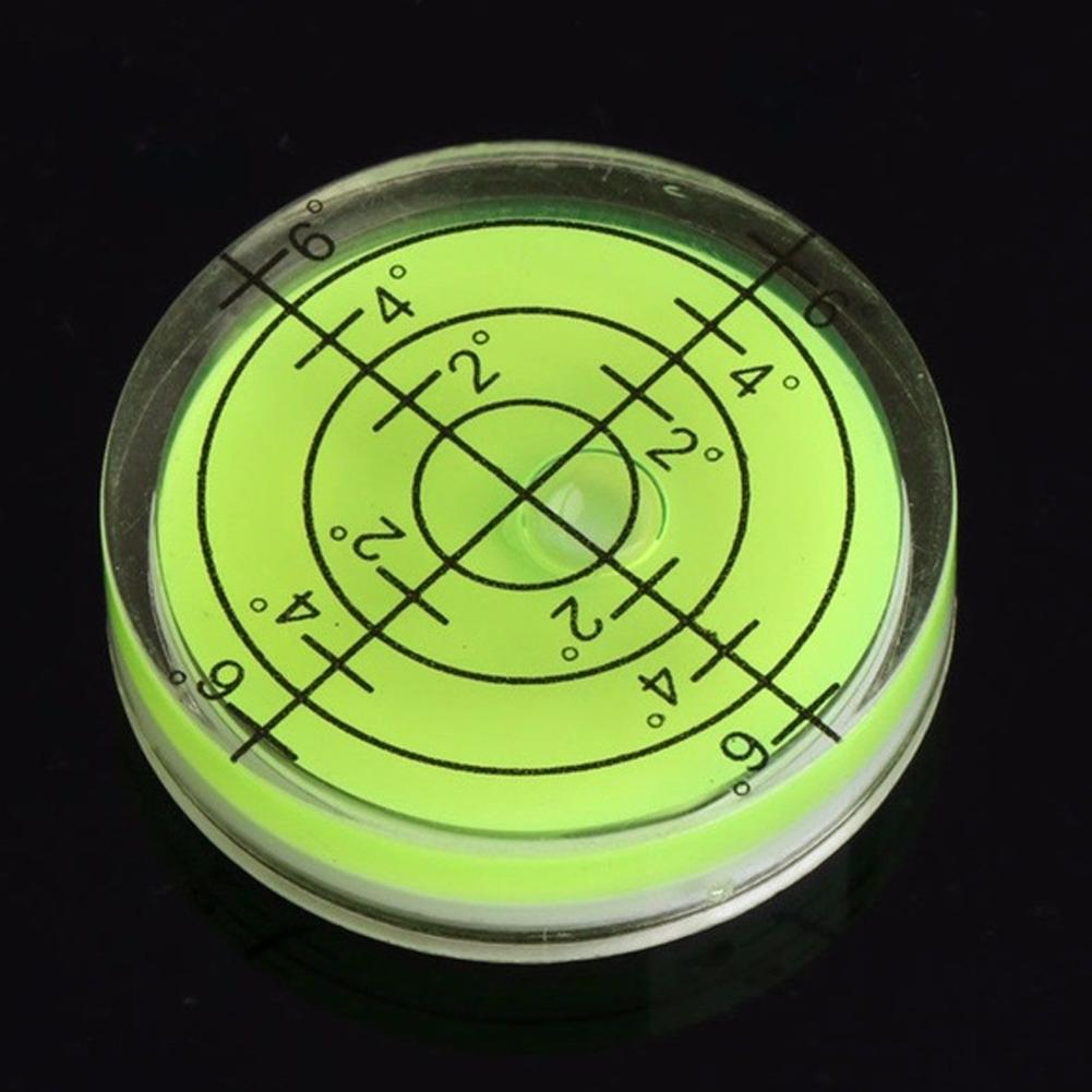 Tiny Disc Bubble Spirit Level Round Circle Circular Green TripodIJ