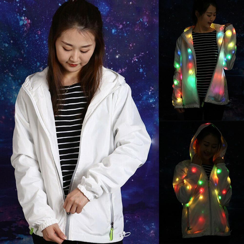 LED Light Outwear Mantel Jacke Halloween Party Kostüm Leuchten Kostüme Kleidung