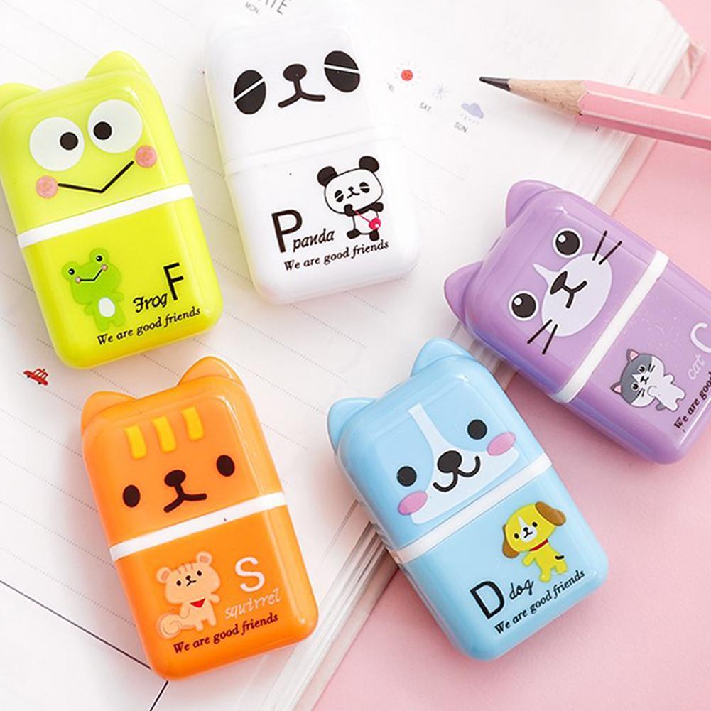 New Novelty Cartoon Animal Dog Eraser Stationery Supplies Gift Random Kids N2D7