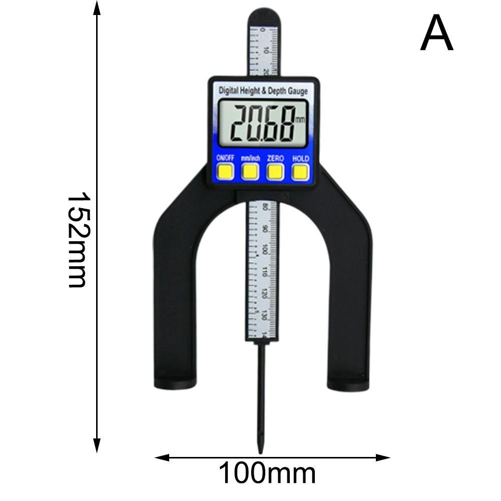 Digital Höhenmessgerät 0-80mm LCD Tiefenmesser Meßschieber für Holzbearbeitung
