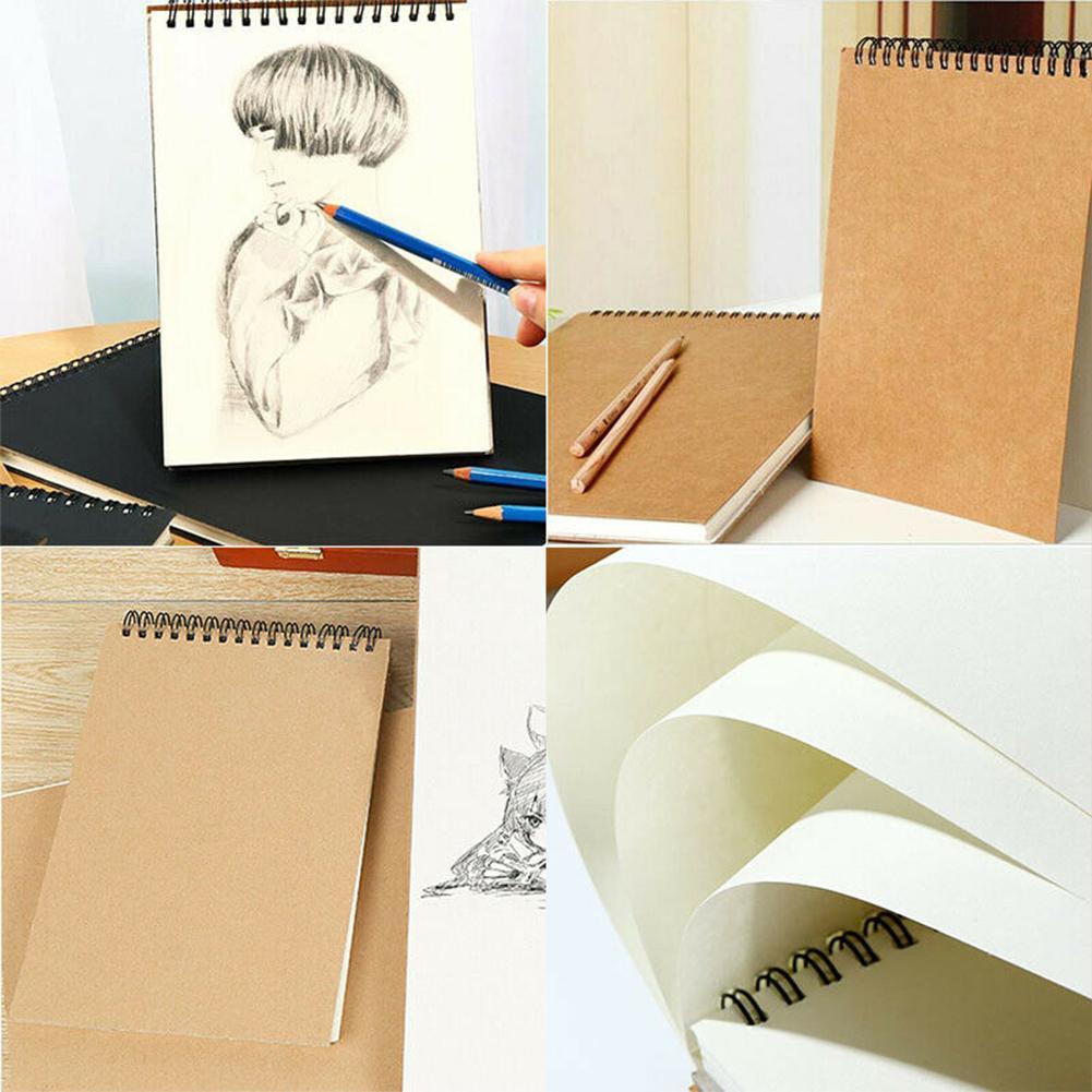 A5 Papier Skizzenbuch Set für Aquarellzeichnung Skizzenbuch 30 Blatt A3 A4
