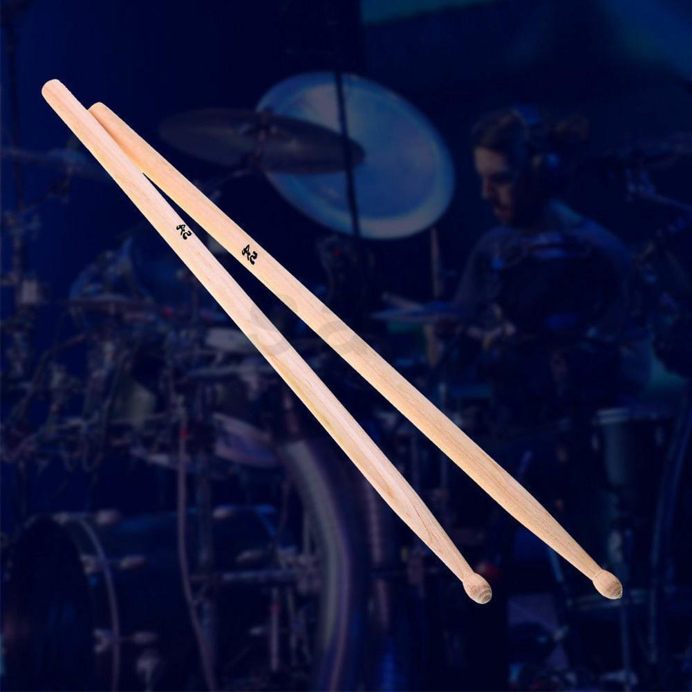 """2 x Drumsticks 5A 7A 16 /""""Drumsticks Ahorn Hochwertiges Holz Premium Percu B9B0"""