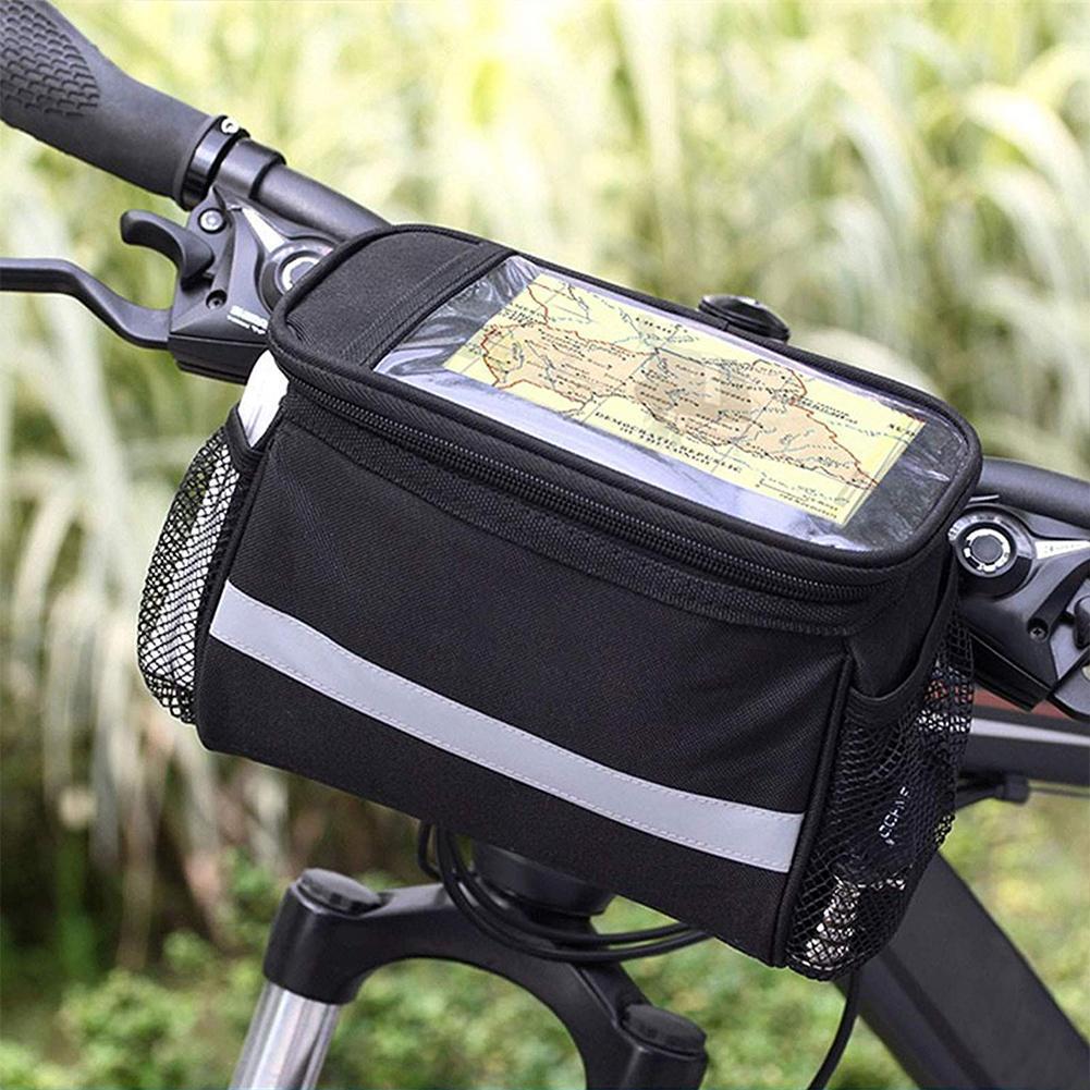 Fahrradlenker Korbtasche Fahrrad Reflektierende Vordertasche Rohr Wasserdicht