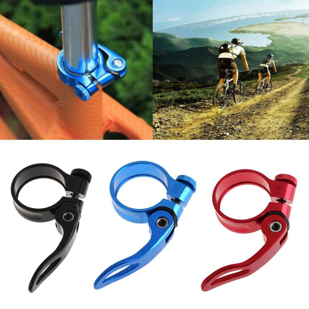HOT MTB Road Bike Bicycle Seatpost Clamp Quick Release Seat Post Clamps 31.8mm B