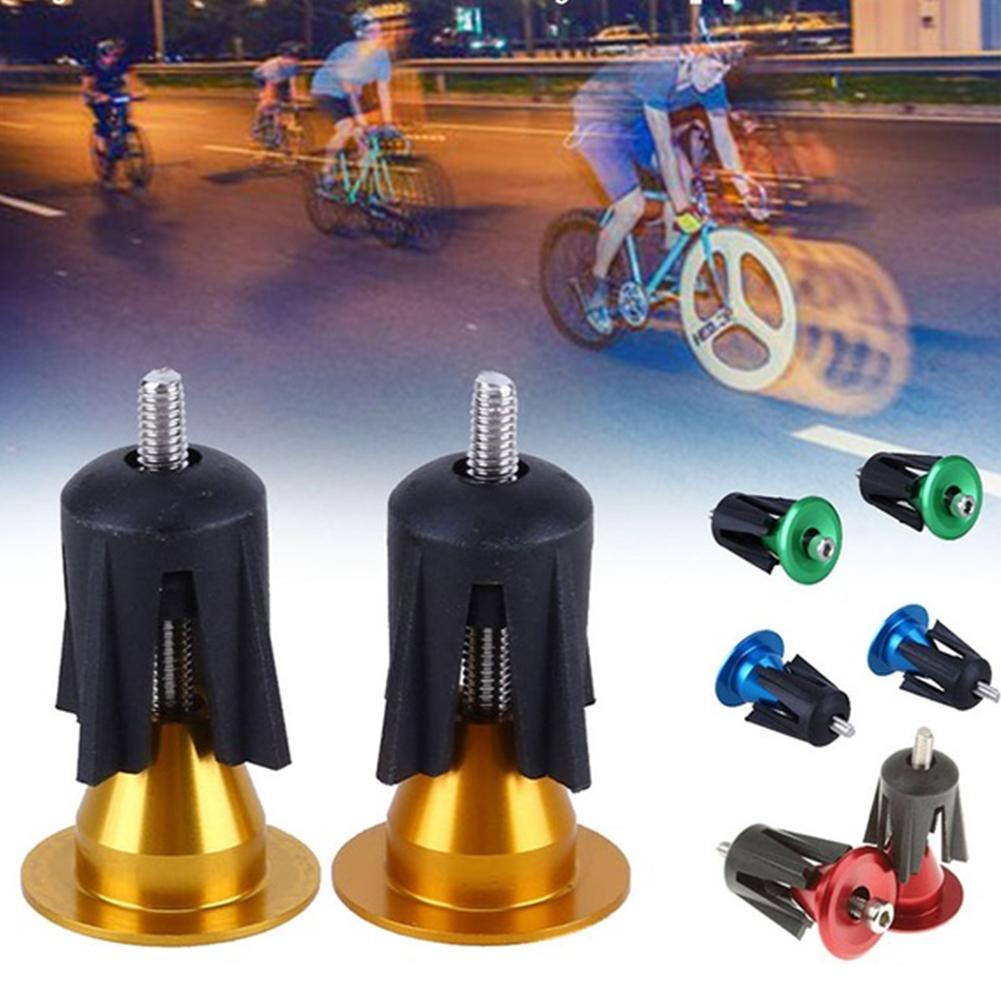 1 Pair Aluminum Bike Handlebar Grips Cap Plug Handle Bar Caps End Plugs Stoppers