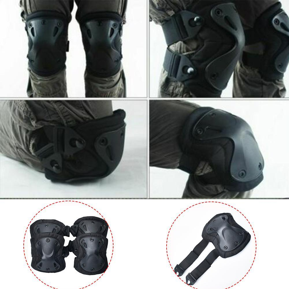 4PC Motorcycle Equipment Protective Kneepad Bike Motocross Safety Knee Protector