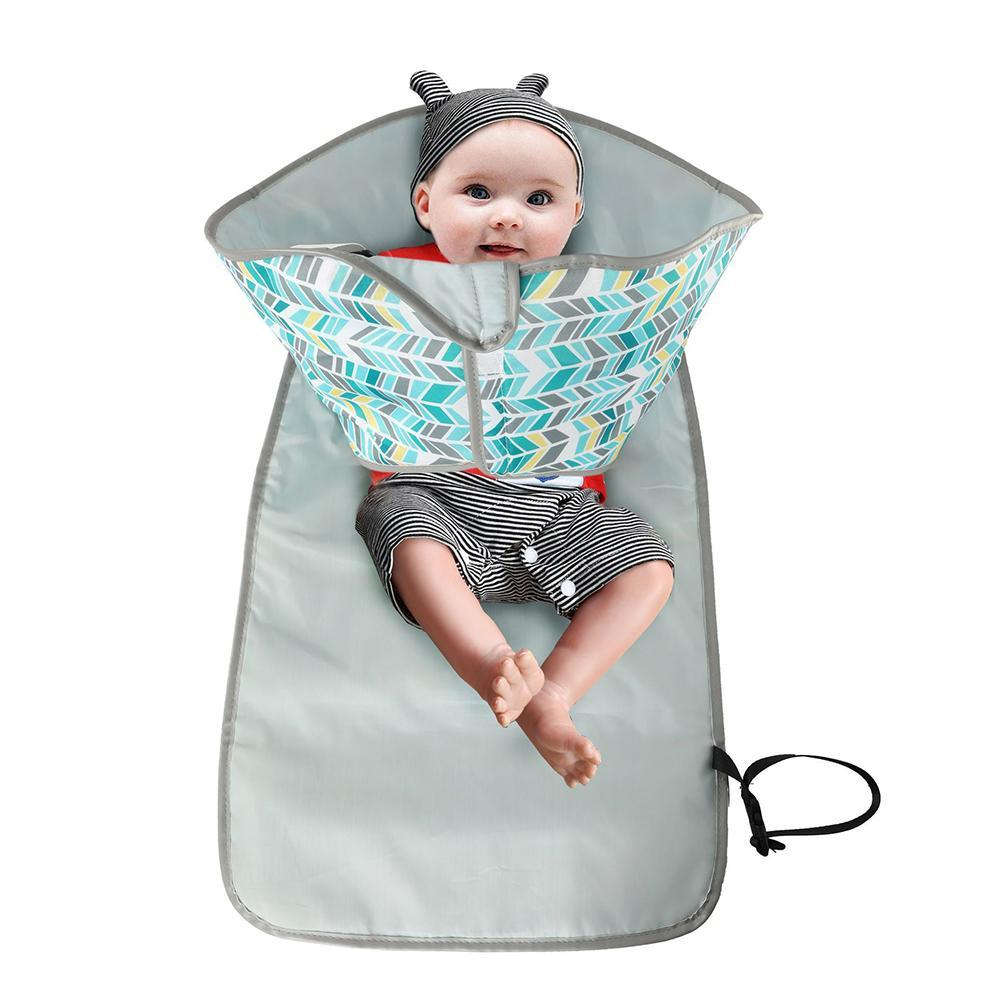 Foldable Washable Baby Waterproof Portable Travel Nappy Changing Mat Top Di K0U5