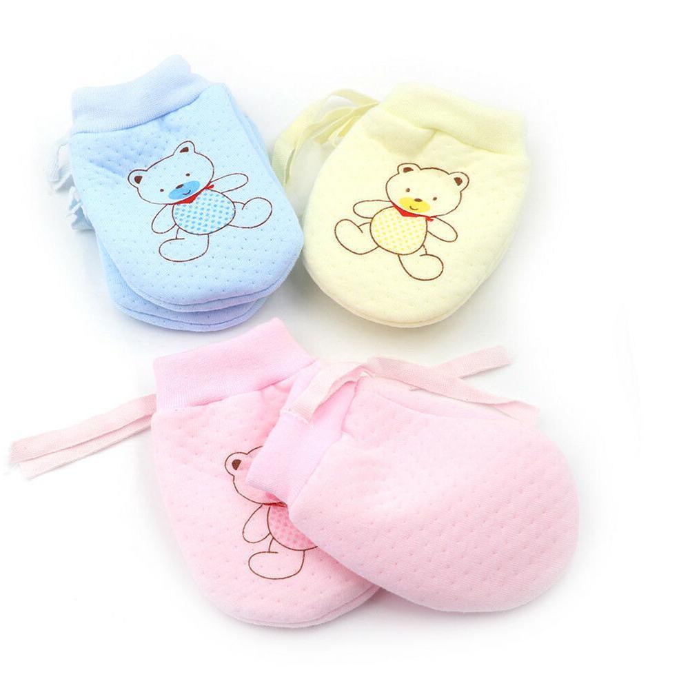 Cute Baby Infant Boys Girls Anti Scratch Mittens Soft Newborn Baby Gloves