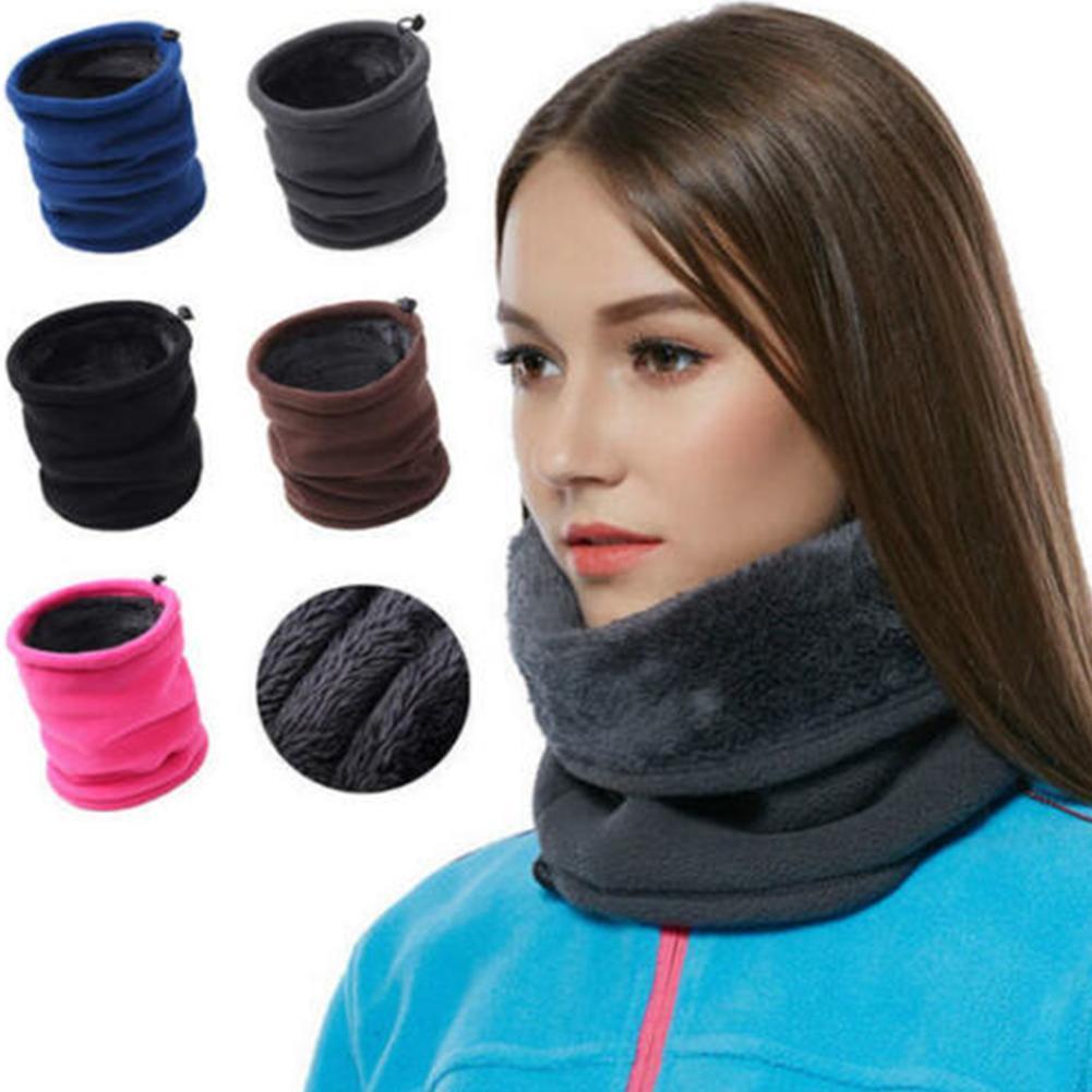 Thermal Polar Wolle Snood Halswärmer Gamasche Schal Warm Winterski Männer Frauen