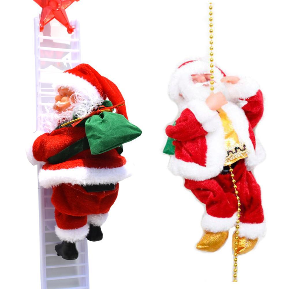 Christmas Decor Doll Santa Claus Snowman silver silk Ornament plush M7N0