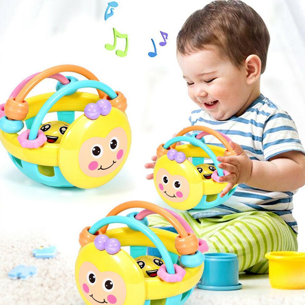 Cartoon Baby Shake Bell Rattles Ball Newborn Intelligent Educational Toys Gifts