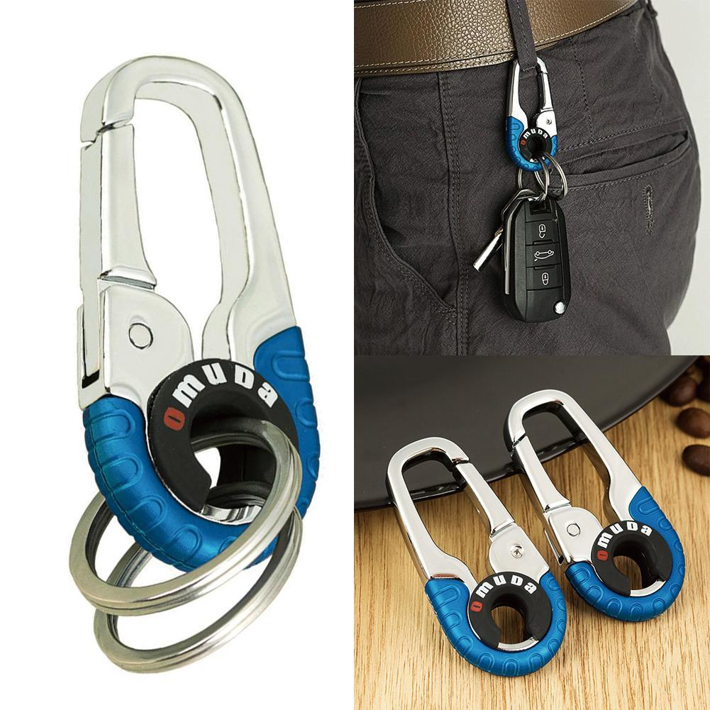 2Pcs Outdoor Backpack Key Ring Carabiner Double Key Ring Padlock Keychain H/_ti