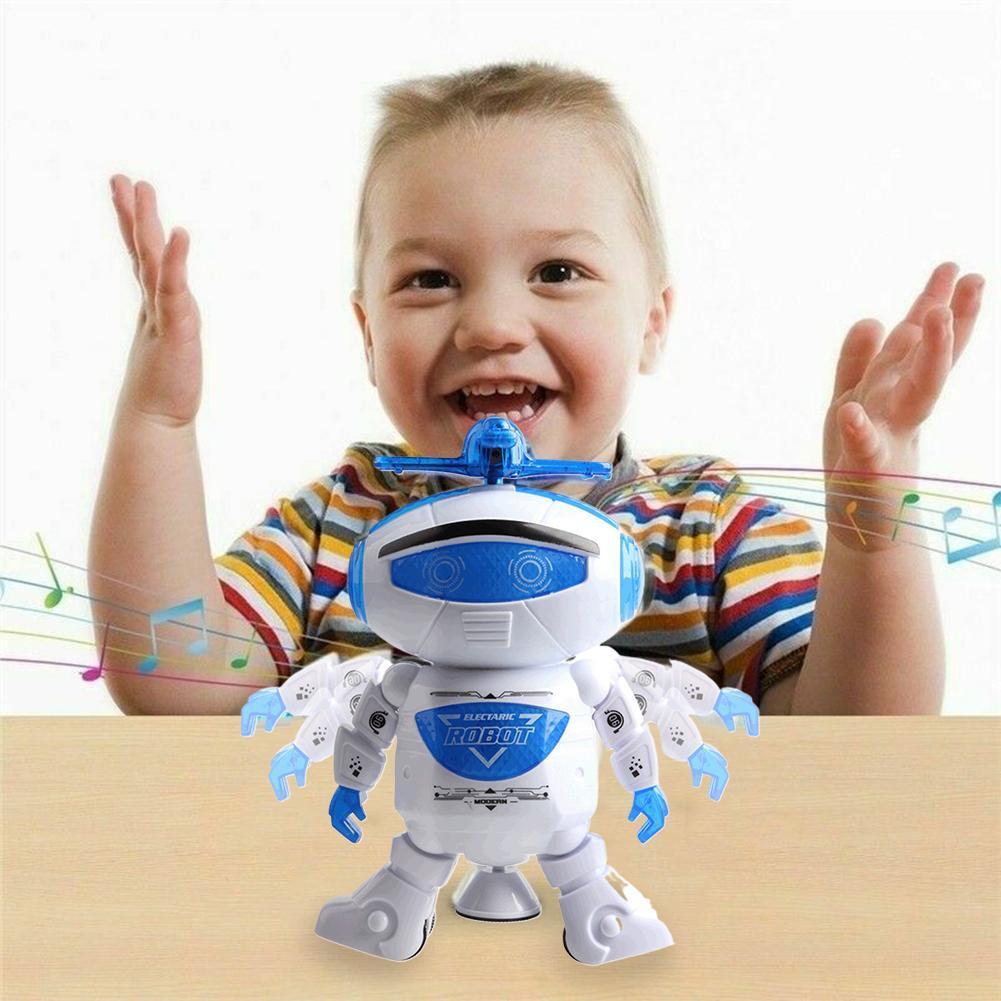 Spielzeug für Jungen Electric Walking Robot LED leuchtet Weihnachtsgeschenk M4D4