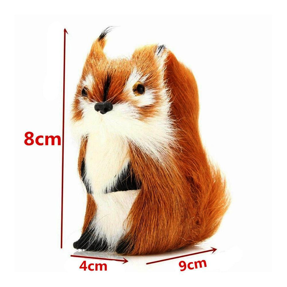 Furry Orn details about furry simulated squirrel/owl ornament decor adornment  christmas tree hanging