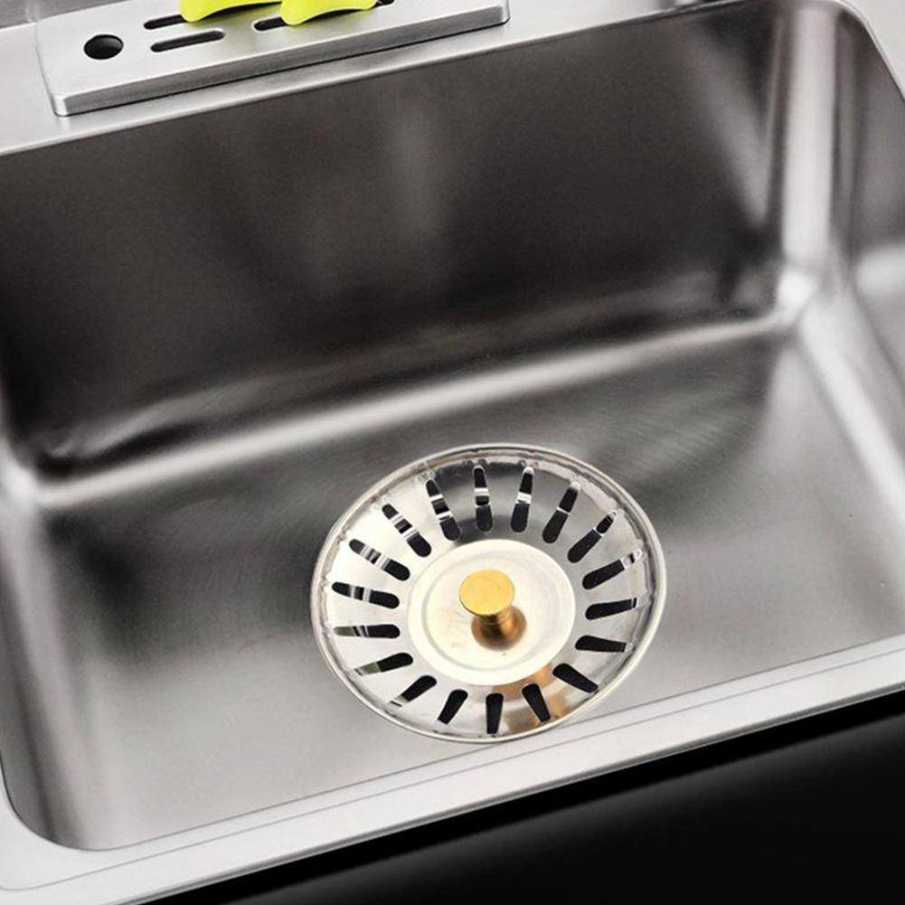 Stainless Drain Cover Kitchen Water Sink Drainer Strainer H0A5 Disposal M8W9