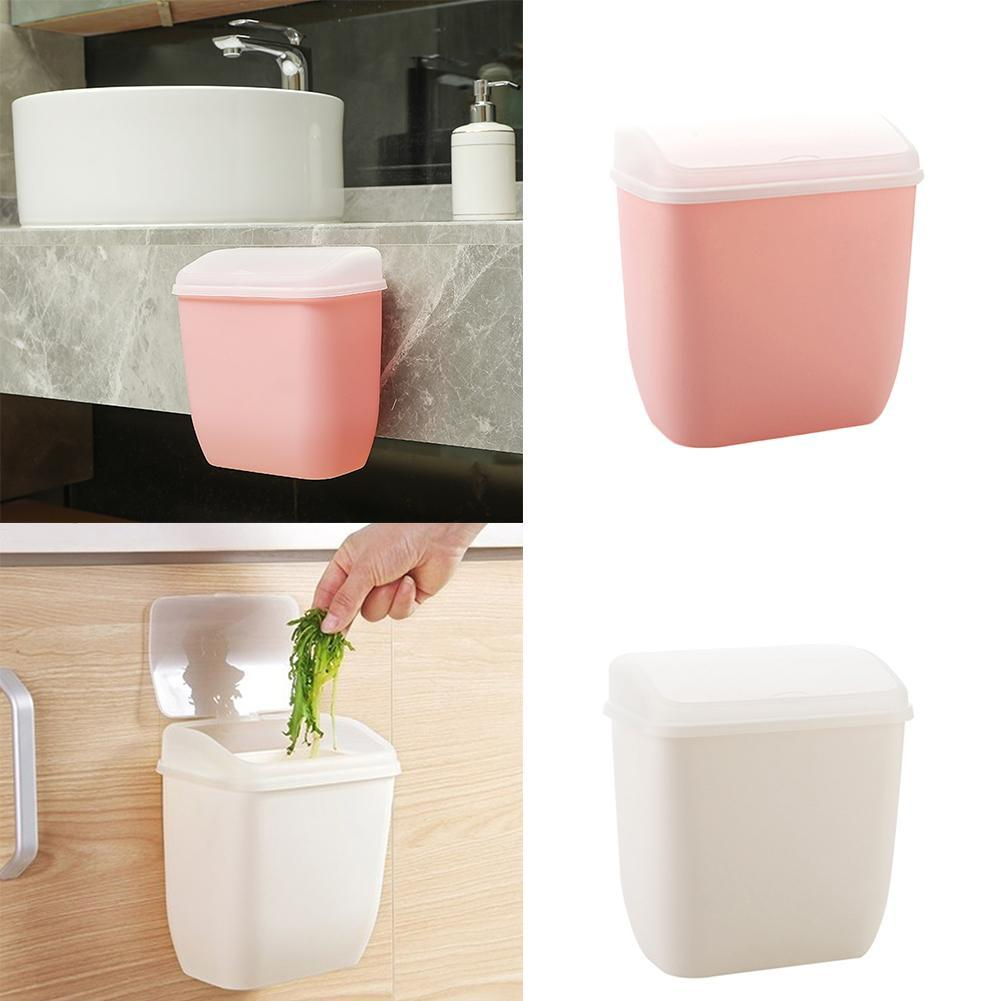 Details About Wall Mounted Rubbish Bin Trash Can Wastebasket For Bathroom Multifunctional