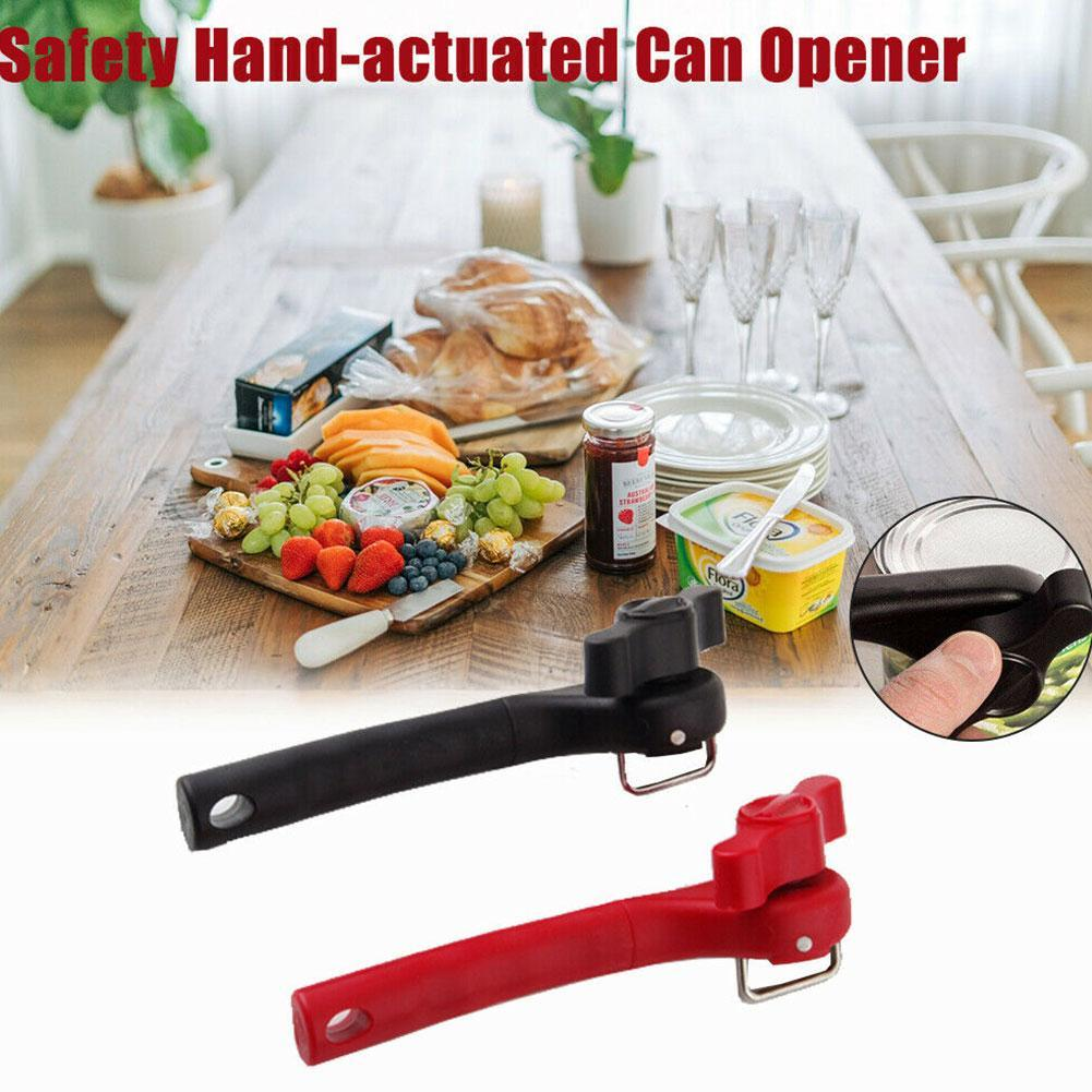 Stainless Steel Manual Can Opener Bottle Jar Easy Open Kitchen Food-Safe Aid