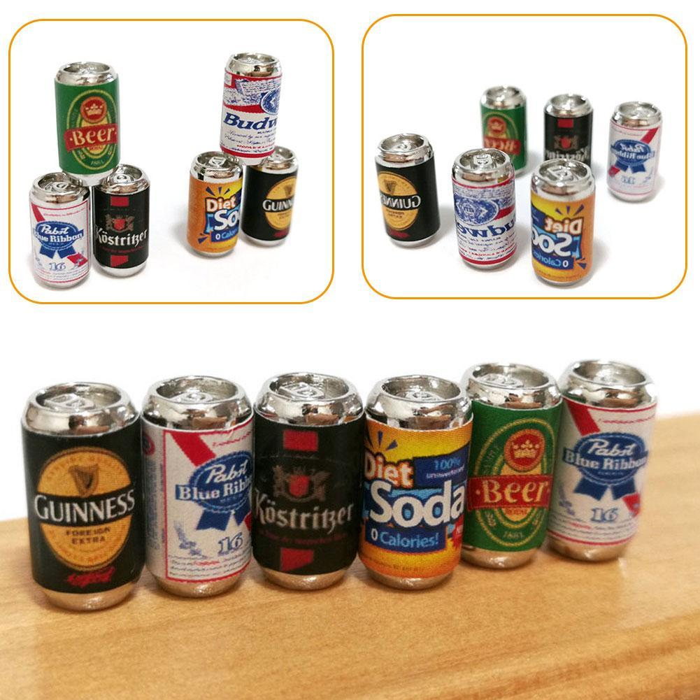 Mini beer can simulation dark beer bar beach scene model diy accessories