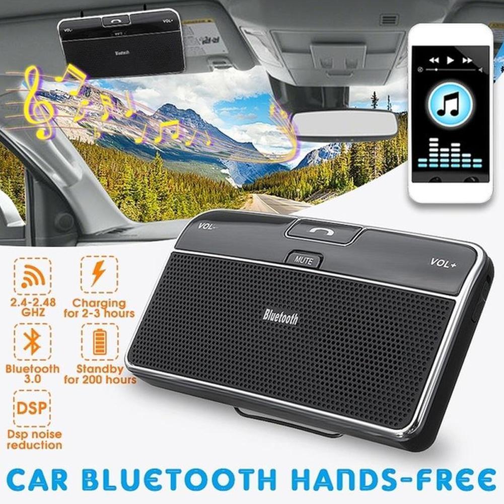 Wireless Bluetooth Handsfree Speaker Phone MP3 FM Car Kit Sun Visor Clip Drive
