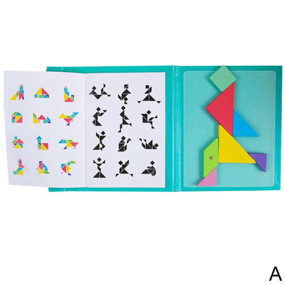 Kids Tangram Game Travel Games Magnetic Puzzle Jigsaw