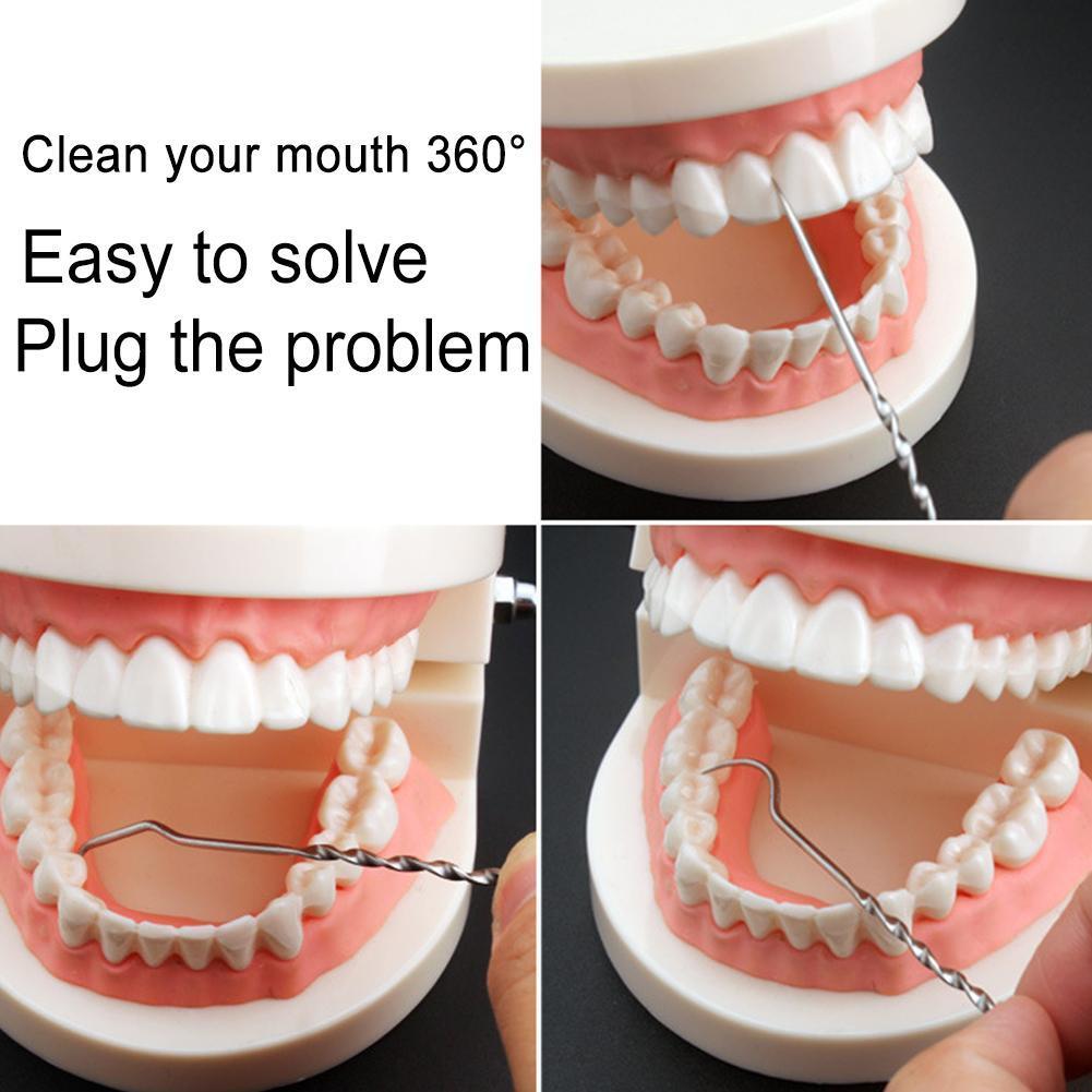 Dental Zahnreinigung 4 teile Tragbare Edelstahl Aufbewahrungsbeutel Camping W5B4