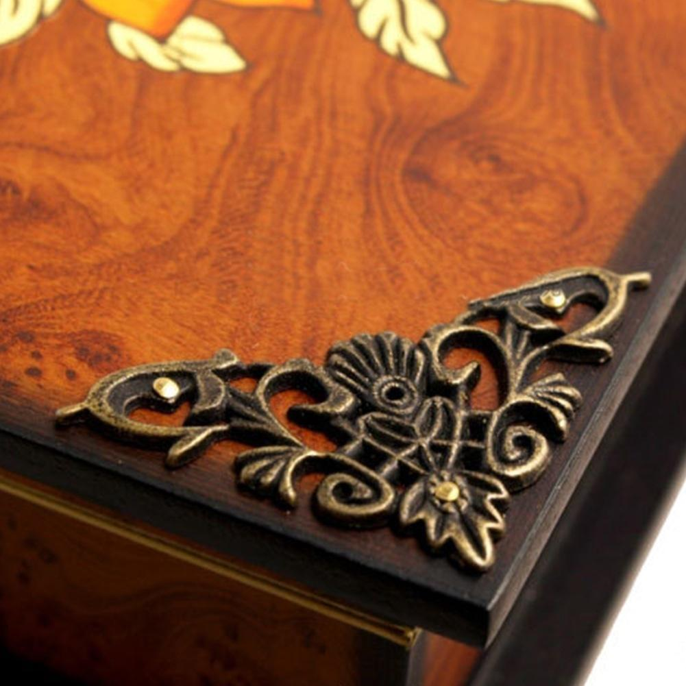 10x Vintage bronze Angle Corner Edge Protector Cover Decorative for Wooden Box