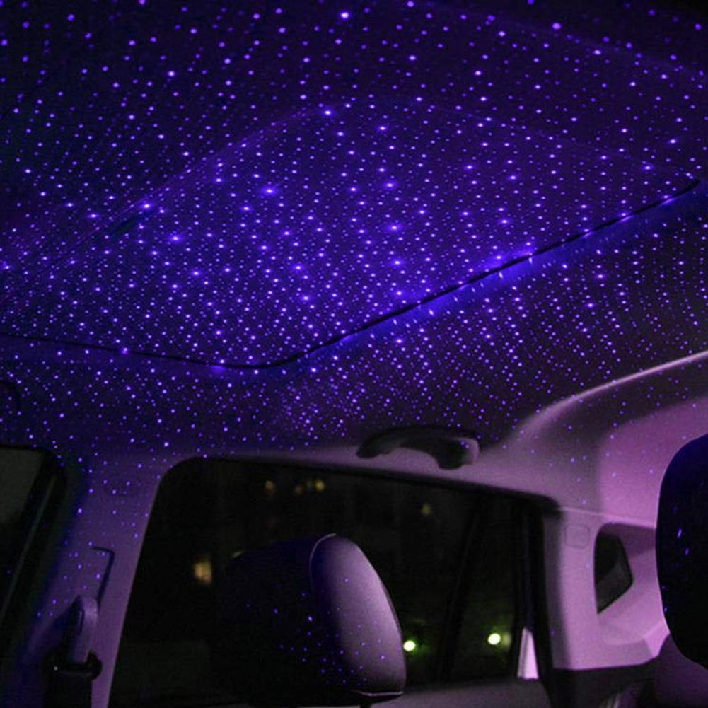 Cimoto USB Car Interior Atmosphere Starry Sky Lamp Ambient Star Light LED Projector
