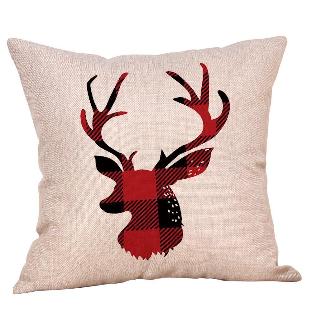 Red Lips Shape Sofa Pillow Case Cotton Fashion Throw Cover Home Cushion E1P2