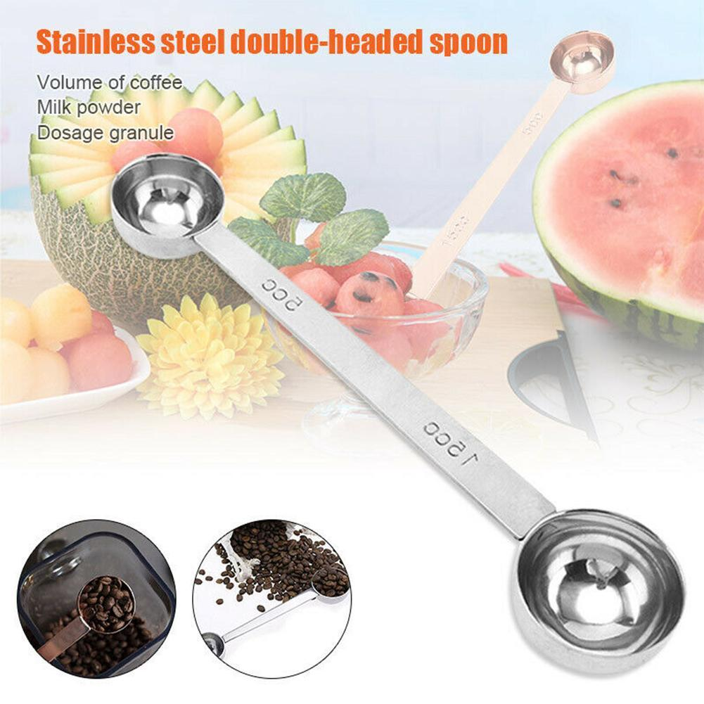 Details About Measuring Spoon Tool Stainless Steel Double Side Scoop Coffee Scoop Tablespoon