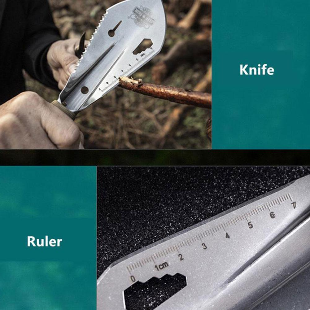 Garden Stainless Steel Shovel Spade Multi Tool Weeder With Sawtooth Hex Wrench