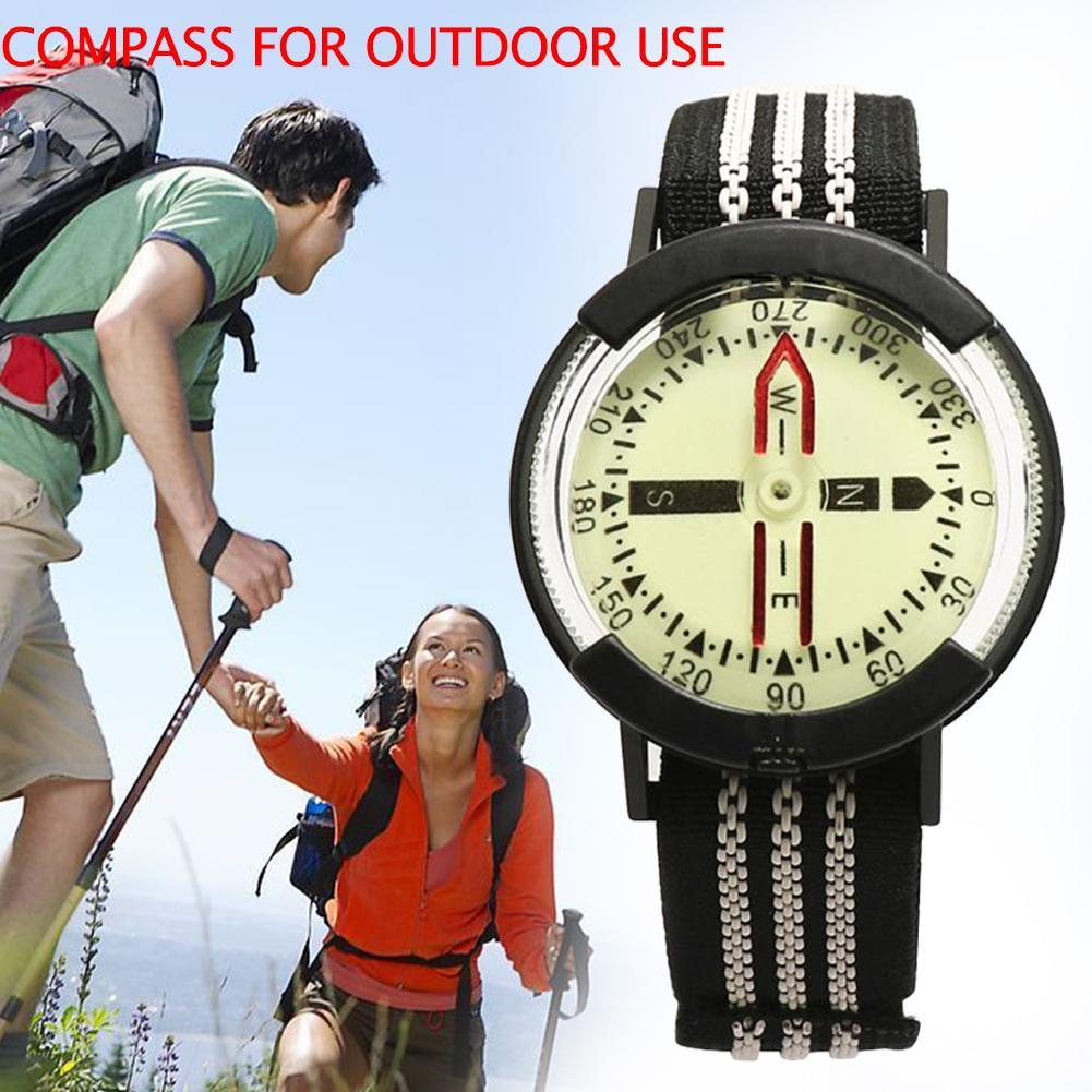 3 in 1 Compass Thermometer Outdoor Hiking Tactical Survival Key Carabiner R L1Z8