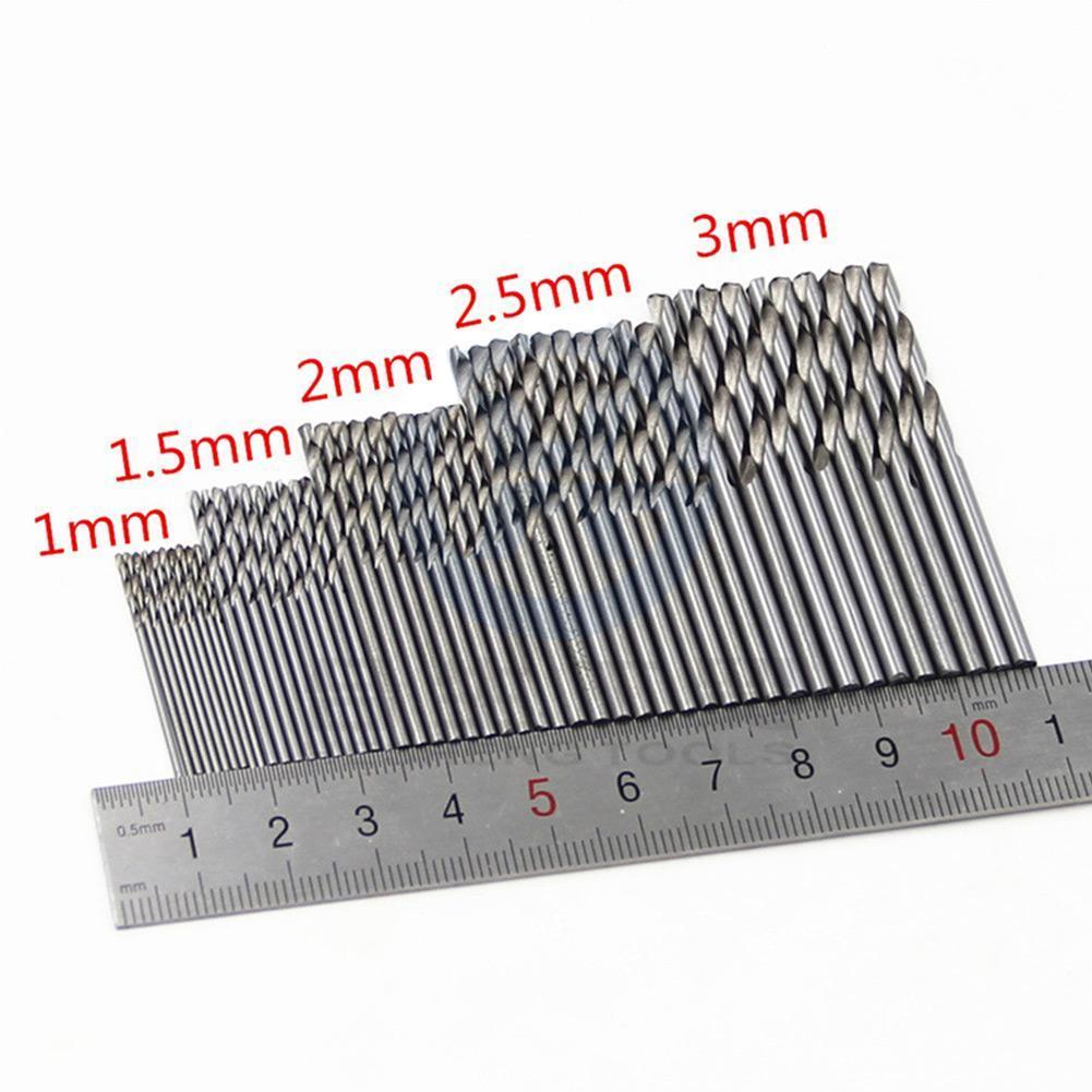 10X Mini Micro Steel HSS Spiralbohrer Twist Drill Bits Set Home Bohrwerkzeuge·Pr