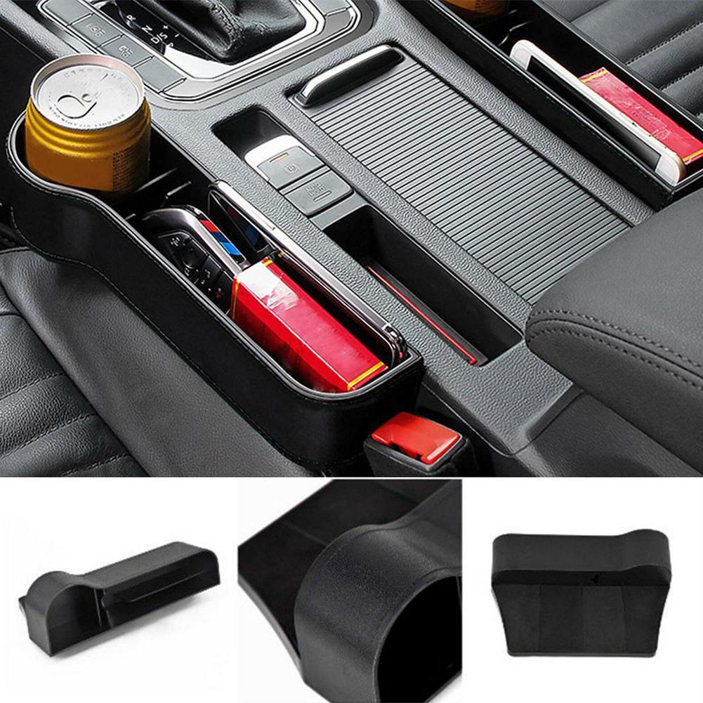 Grey 2Pcs Car Seat Gap Filler /& Pocket Organizer PU Leather Car Seat Catcher Car Accessories Between Seat /& Console for Wallet//Phone// Coins