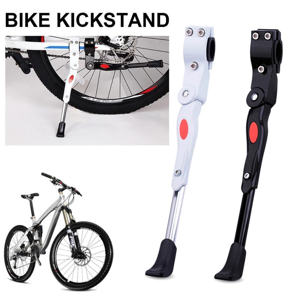 Mountain Bike Bicycle Cycle Kick Stand Adjustable Rubber New Heavy Duty Foo H7V3
