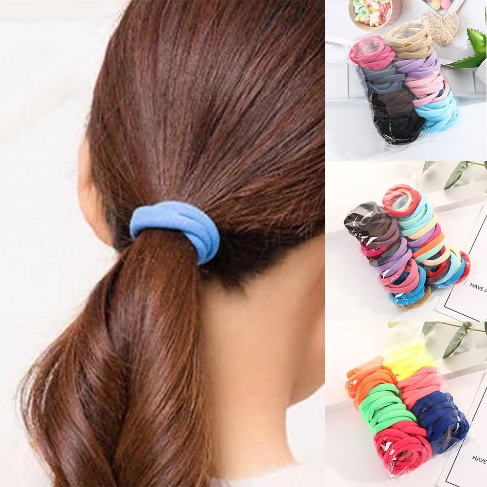 50pcs Women Girls Hair Band Ties Rope Ring Elastic Hairband Ponytail Holder Uk Women S Hair Accessories