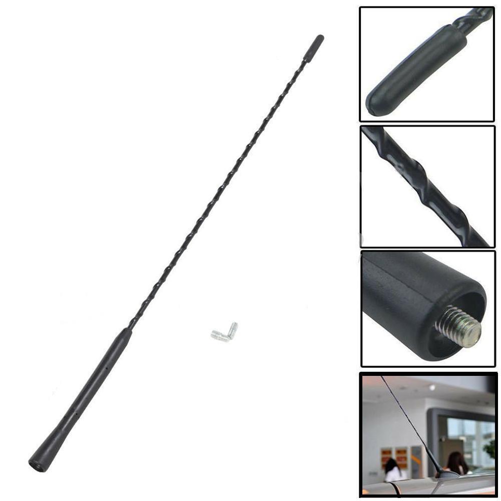 "USPS FAST 16/"" Universal Car Antenna Radio AM//FM Antena Roof Mast Long Whip style"