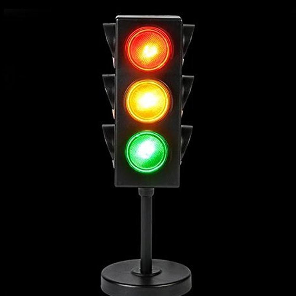 Mini traffic road signs light block with led kid safe traffic education lea P9Q9