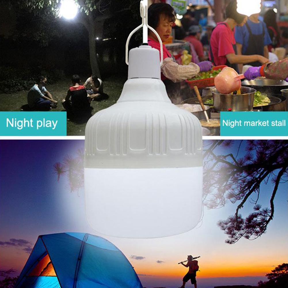 100W LED Camping Light USB Rechargeable Outdoor Tent Lamp Lantern K6D8 60W