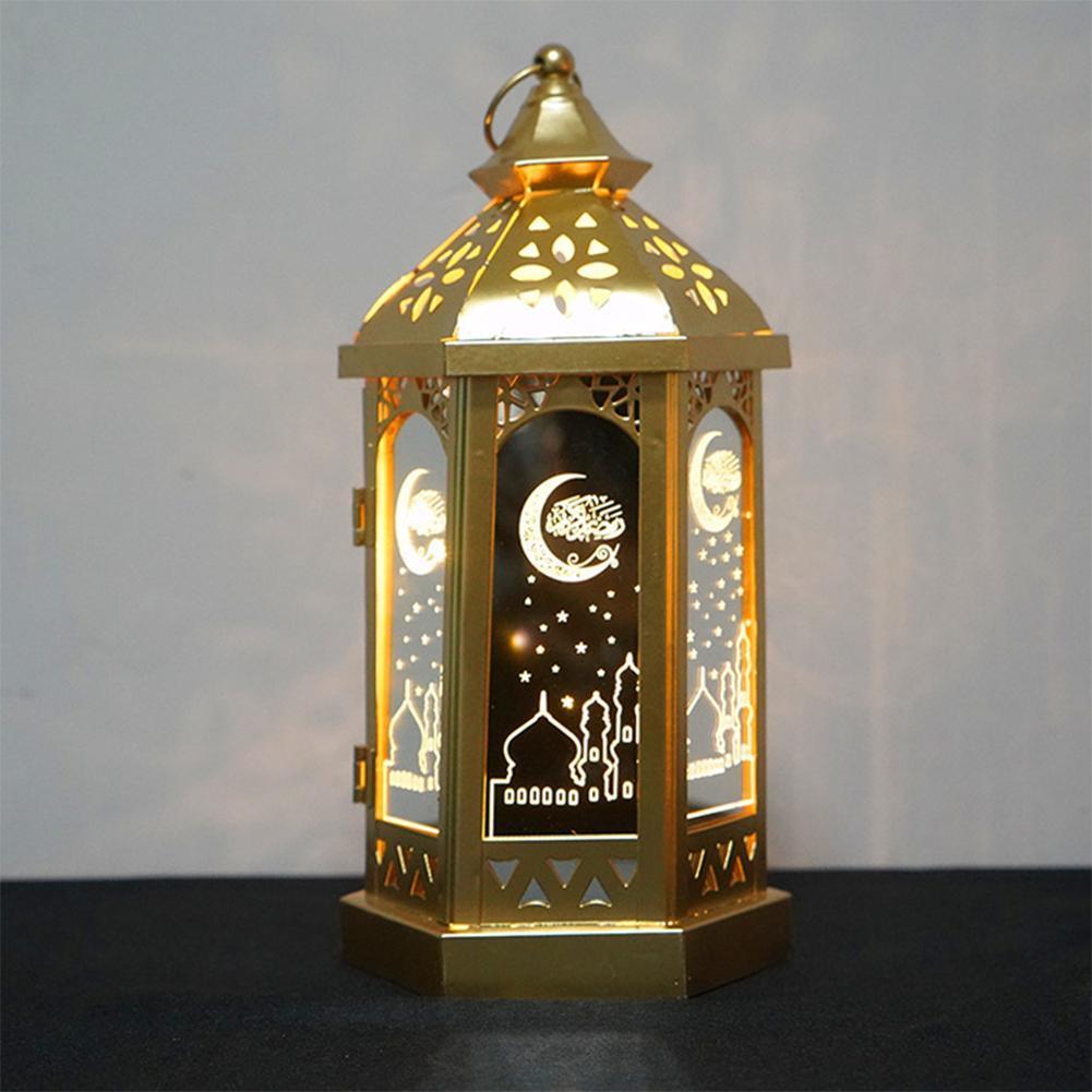 Led Lamp Eid Mubarak Decorative String Lights Ramadan Kareem Islam Lignts K6Z1
