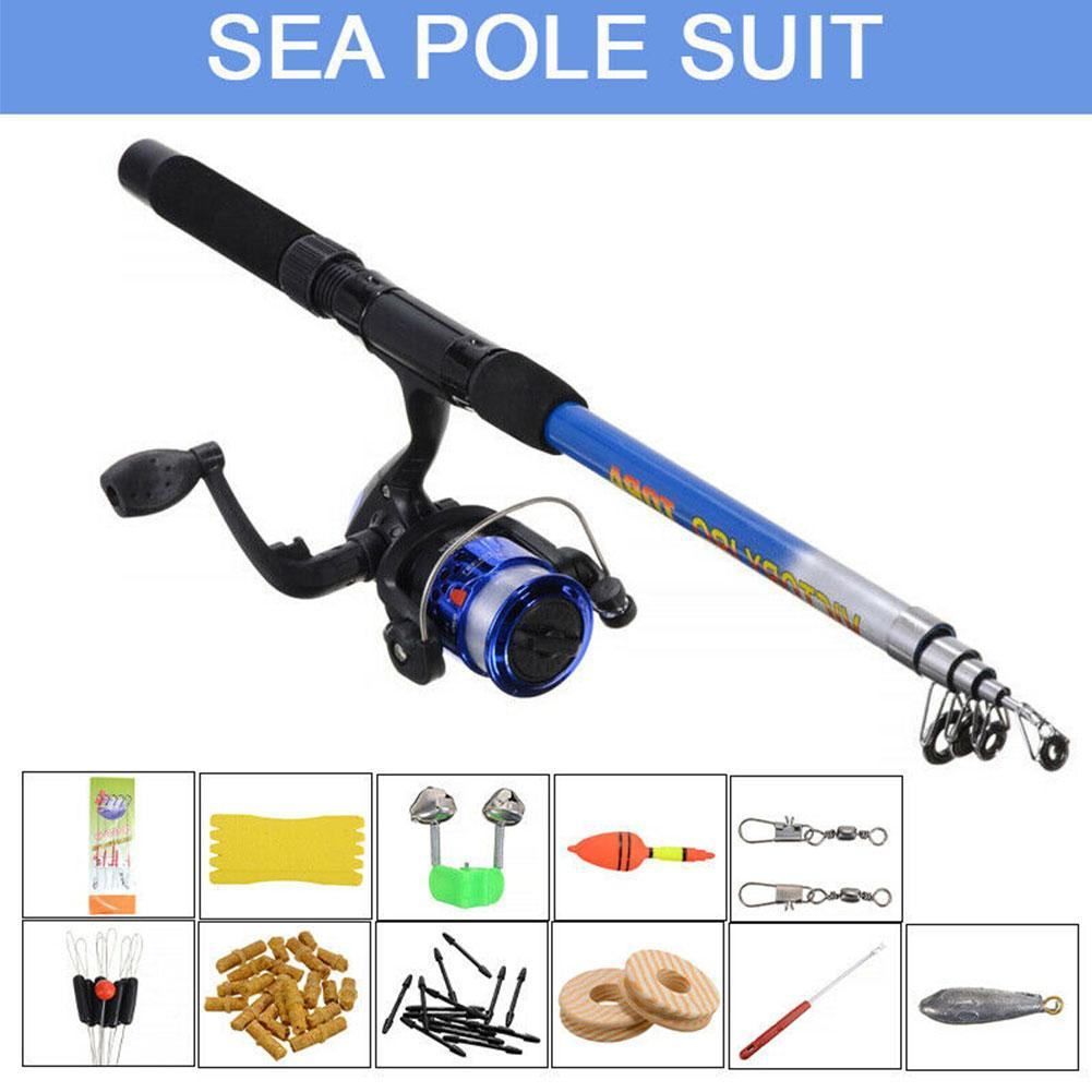 1.8m Fishing Rod Reel Line Combo Full Kits Spinning Reel