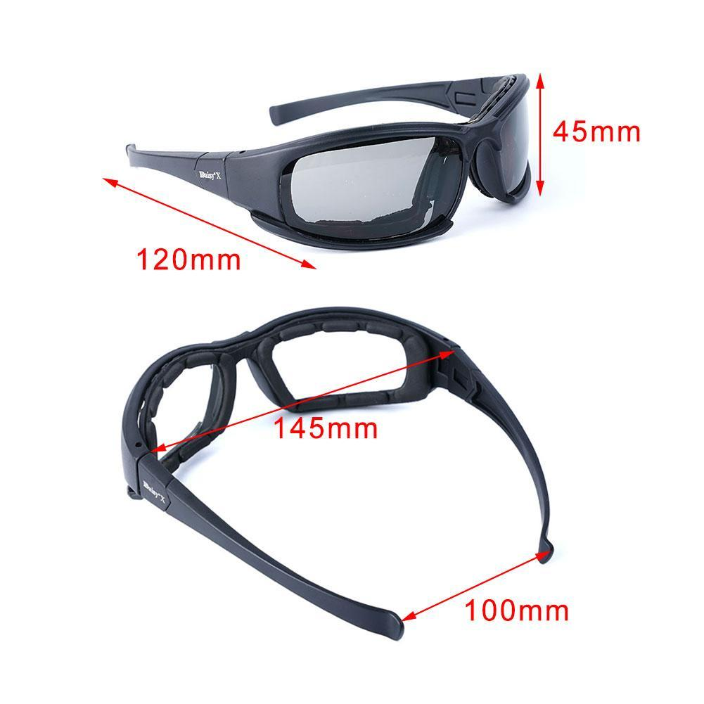Daisy X7 UVA//UVB Tactical Military Style Glasses  Goggles Motorcycle Sungla G3