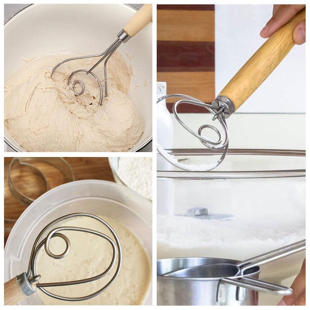 "13/"" The Original Danish Dough Whisk LARGE Steel Dutch Whisk Kitchen"