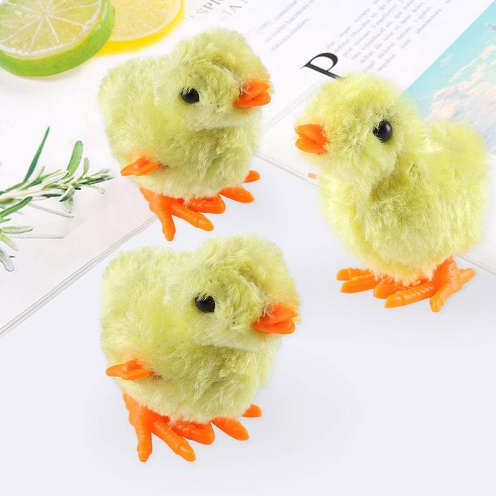 2Pcs//Set Children Funny Wind-Up Hopping Jumping Chicken Clockwork Walking Toys