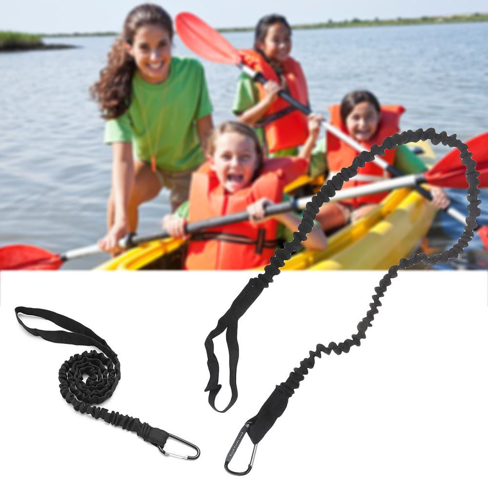 Kayak Canoe Paddle Rod Leash Safety Rope Carabiner Rowing Boats Accessories/_XH