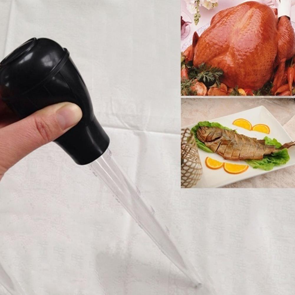 30mL BBQ Food Cooking Chicken Turkey Flavour Baster Syringe Tube Pipe W7X0