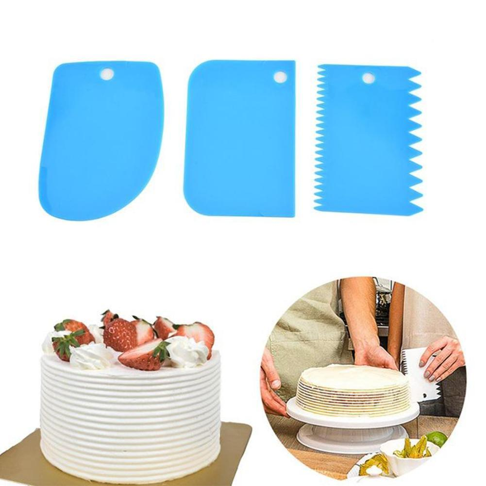 3Pcs Fondant Mold Sugar Mold Cake Printing Cookie Pink 3D Cut Tools X9B7